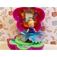 Custom Bespoke Vintage Polly Pocket Carnival Bracelet Compact  Includes Doll Skirts - Polly Pocket Gifts
