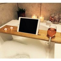 Bath Caddy, Bath Shelf, Bath Plank, Bath Board, Bath Tray, Book, Ipad, Wine, Birthday gift, Pamper, Christmas gift, Gift for her - Ipad Gifts