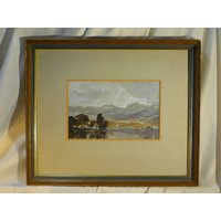 R Martin Tomlinson Signed Landscape Lake District Arts Society Watercolour Painting 14 Listed Artist Original British Art Mountains Cumbria - Artist Gifts