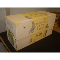 Set of 23 Beatrix Potter Books of mixed ages with Box. (Damaged Box) - Beatrix Potter Gifts