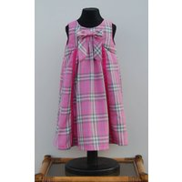 Childs dress in pink plaid fabric. Age 4 - Seek Gifts