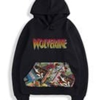Infants and Juniors Custom Cut  Sew marvel wolverine comic pouch pocket hoodie. Adults sizes also available in a different listing. - Wolverine Gifts