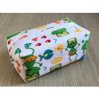 Swimming Frogs Cosmetic Bag, Frog Make Up Bag, Cosmetic Purse, Swimming Frogs Pencil Case - Swimming Gifts