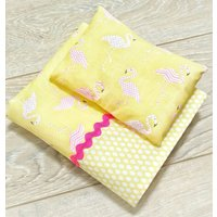 Unique Flamingo Bedding Set for Dolls and Toys  Flamingo Doll Blanket Baby Born  Baby Annabell  Ikea Doll Bed - Baby Annabell Gifts