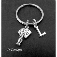 Poker KeyRing, Ace KeyChain, Pack of Cards KeyChain, Personalised Ace Key chain, Poker Gifts, Poker Keychain - Poker Gifts