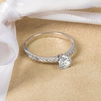18ct White Gold Certified Diamond Solitaire Engagement Ring - Engagement Ring Gifts