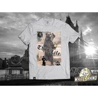 Thug Life Bear, Printed TShirt. Funny, Unique Design. White Rhino Clothing. Weed Inspired Apparel. - Bear Gifts