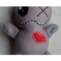 Grey Voodoo doll, witches poppet, pincushion, zombie, divorce gift, heartbreak, UK made - Voodoo Doll Gifts