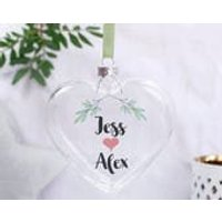 Christmas Bauble For Couples  Personalised Bauble  Couples Bauble  Christmas Bauble  Mistletoe Decoration  Bauble For Her - Mistletoe Gifts