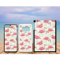 Summer Tropical Plastic Phone Case iPhone 5 5C SE 6 7 8 X Plus Galaxy J5 S5 S6 S7 S8 Edge Note Xperia Z3 iPad Air Mini 2 3 4 No.01 Flamingo - Ipad Gifts