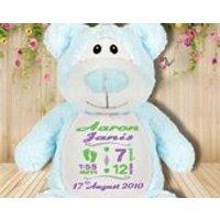 Cubbie teddy bear, Personalised, Teddy Bear, Embroidered Baby Teddy, New baby gift, First Teddy, Embroidered teddy bears - Teddy Bears Gifts