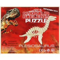 3D Wooden Dinosaur Puzzle  Build your own Plesiosaurus Skeleton Sculpture / Toy / Decoration  Craft Kit for Children or Adults - Build Your Own Gifts