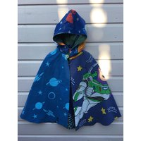 Toy Story Buzz Lightyear fabric Space explorer hand made upcycled recycled Astronomy Super Hero Cape boys girls unisex kids Age 4 5 6 yrs - Buzz Lightyear Gifts