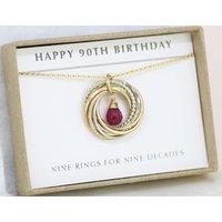 90th birthday gift, July birthday gift for mom 90th, July birthstone, ruby necklace grandma   Lilia - 90th Birthday Gifts