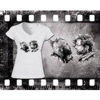 Original Art Inspired by Logan  Wolverine  Ladies White TShirt - Wolverine Gifts