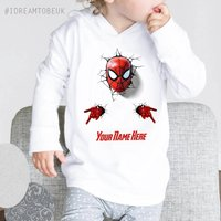 Spider man hoodie  baby hoodie, personalised hoodie, marvel, the avengers, super hero, baby shower gift, birthday outfit, gift - Spider Man Gifts