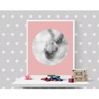 Pink grey wall art Bunny print Pastel hoop decor Woodland animals Printables  DIY Home decors Nursery forrest animal Kids room poster Photo - Nursery Gifts