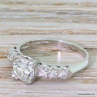 Art Deco 0.98 Carat Old Cut Diamond Engagement Ring, circa 1925 - Engagement Ring Gifts