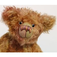 Spudnutz is a very humorous and quirky, one of a kind, hand dyed mohair, artist bear by BarbaraAnn Bears - Artist Gifts