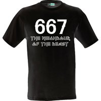 The Neighbour of the beast  funny holiday shirt slogan festival party clothing present gaming custom vinyl print iron maiden 666 number - Iron Maiden Gifts