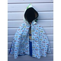 Vintage Bob the Builder fabric taxi bus driver 1990s recycled upcycled Super Hero Cape accessories childrens unisex boys girls Age 4 5 6 yrs - Bob The Builder Gifts