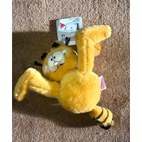 1980s GARFIELD Cuddly Toy with Car Window Suckers  22cm  With Original Tags - Garfield Gifts