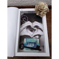 Alternative Gift  Secret compartment book  Upcycled recycled repurposed  hollow book safe  Cheryl Cole - Cheryl Cole Gifts