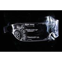 The original Illuminated Cyber goth visor Iron Man J.A.R.V.I.S. 2.0 advanced  Clear choose your LED colour - Iron Man Gifts