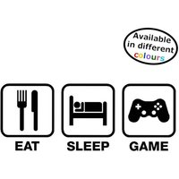 Gamer Gift Vinyl Sticker for Car/Wall/Window/Laptop Eat Sleep Gaming Xbox Playstation Decal - Xbox Gifts