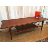 Heals Richard Hornby for Fyne Ladye: Danish style coffee table with shelf. Afromosia Teak. - Hornby Gifts
