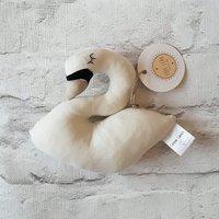 Swan rattle, swan, rattle, soft toy, baby gift - Soft Toy Gifts