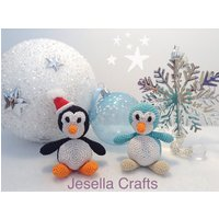 Amigurumi, crochet, penguin, Christmas, soft toy, knitted toy, plush, decoration - Soft Toy Gifts