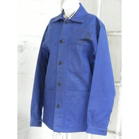 Vintage French Blue workwear chore artist jacket Dead stock size SM  depending on the fit you like code29 - Artist Gifts