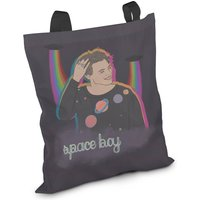 Gift Christmas Present Space Boy Tote Bag Fashion Harry Styles One Direction Galaxy Planets Stars Rainbow Alien UFO Portrait Illustration - One Direction Gifts
