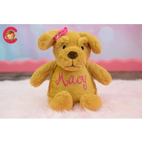 Personalised Dog Teddy Bear, Cubby teddy bear, Cuddly Dog, Embroidered Baby Teddy, New baby gift,  Cubbies, Personalised teddy bears - Teddy Bears Gifts