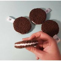 Crocheted Oreos  Play Food  Educational Toys Learning Games  Preschool  Nursery  Toddler  Baby  Childrens  Teething  Learning - Educational Gifts