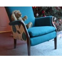 Hand Re  upholstered 1970s Parker Knoll fire side chair pk 749 1014. (teddy not included) - Teddy Gifts