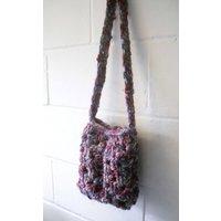 Crochet Bag, Small Multi Coloured Shoulder Bag - Shoulder Bag Gifts