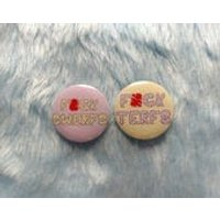 Feminist pin set, trans inclusive badge, fuck TERFS, sex worker inclusive, fuck SWERFS, intersectional, pin buttons, feminist gift ideas - Sex Gifts
