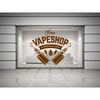 Vape Shop. Electronic Cigarette, Wall/Window Shop art, vinyl decal sticker. Various colours and size options.(204) - Electronic Gifts