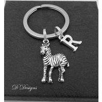 Zebra KeyRing, Zebra KeyChain, Horse KeyChain, Personalised Zebra Key chain, Zebra Gifts - Zebra Gifts