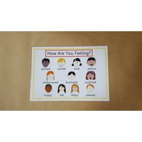 Emotions, feelings poster, EYFS, Autism, ADHD, ASD, pre school, teaching resource, learning resource, educational - Educational Gifts