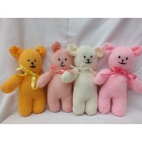 Teddy Bears, Hand Knitted Stuffed Small Soft Knitted Teddies - Teddy Bears Gifts