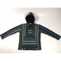 Small fleece lined kangaroo pouch hoodie smock jacket  brushed cotton  made in Nepal - Kangaroo Gifts