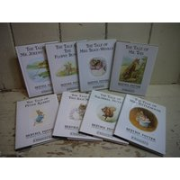 Beatrix Potter Books  8 Book Collection  Set of 8 Beatrix Potter Books  Vintage Beatrix Potter Books  Vintage Beatrix Potter - Beatrix Potter Gifts
