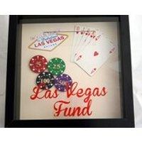 Las Vegas Fund Saving Frame, Money Box Frame, Personalised Savings Frame, Adventure Fund box, gift for him, Take a Gamble Fund, Poker player - Poker Gifts