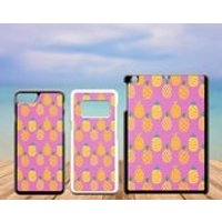 Summer Tropical Plastic Phone Case iPhone 5 5C SE 6 7 8 X Plus Galaxy J5 S5 S6 S7 S8 Edge Note Xperia iPad Air Mini 2 3 4 No.09 Pineapple - Ipad Gifts