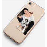 Custom illustration Drawing Portrait Phone Case iPhone 6 7 8 Plus X Samsung S5 S6 S7 Edge S8 Plus Personalised gift print - Custom Gifts