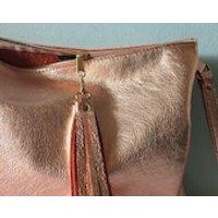 Rose gol leather clutch, rose gold leather iPad bag, iPad case, rose gold metallic clutch purse - Ipad Gifts