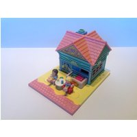 Rare 1993 Pollys Beach Cafe Pollyville Play Set  Complete. AKA Pollys Beach Holiday Tiny World Collection. Vintage Polly Pocket Toys. - Polly Pocket Gifts